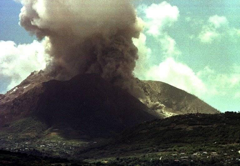 Volcán Soufrière, en Montserrat