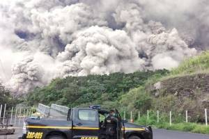 erupción del volcán de Fuego