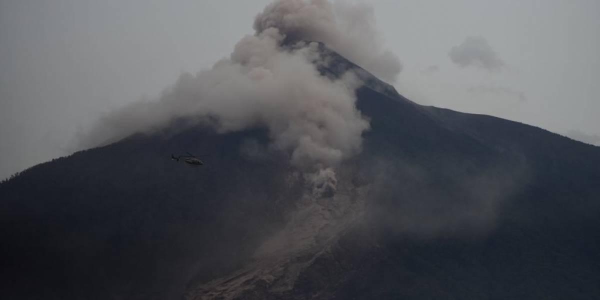 Las columnas del volcán de Fuego de Guatemala, mucho más rápidas que la lava
