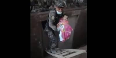 Rescatan a bebé en Escuintla