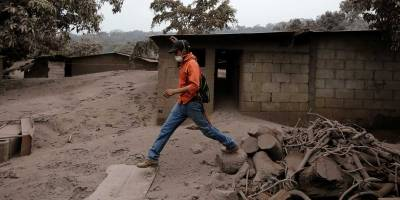 Vulcão na Guatemala