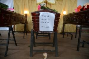 honras fúnebres por erupción del volcán de Fuego