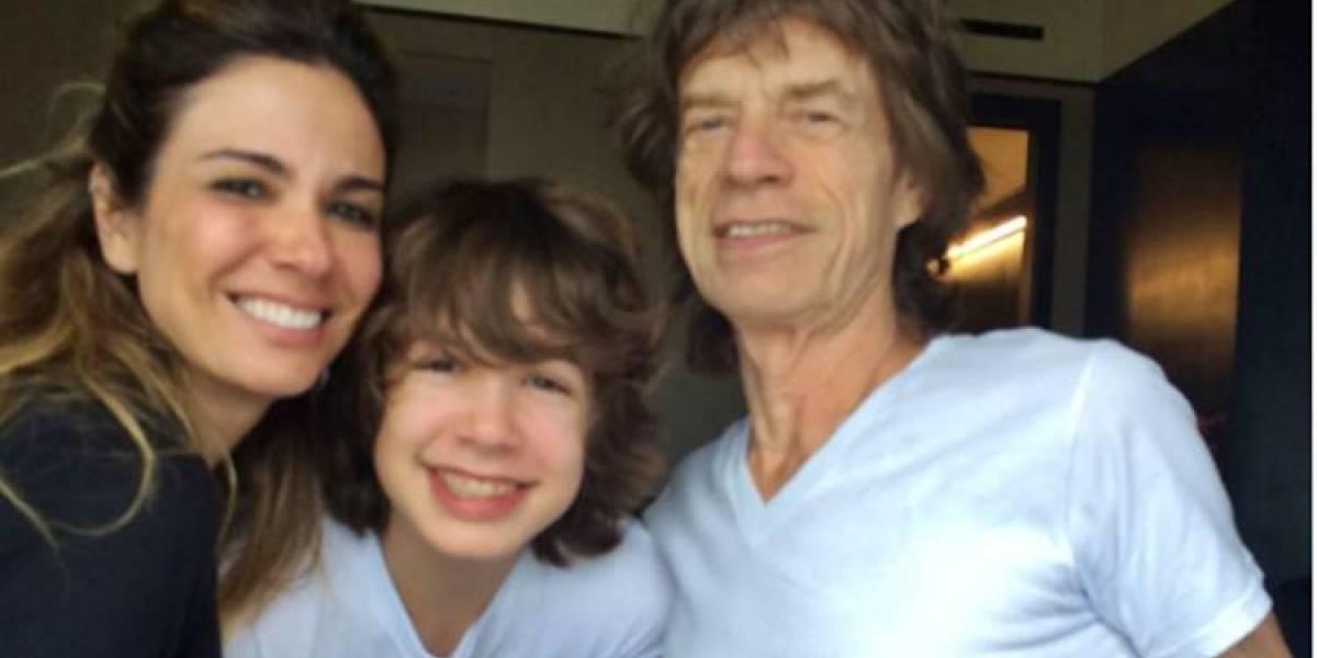Comentários de Mick Jagger em fotos de Lucas, seu filho com Luciana Gimenez, provam que é um pai babão