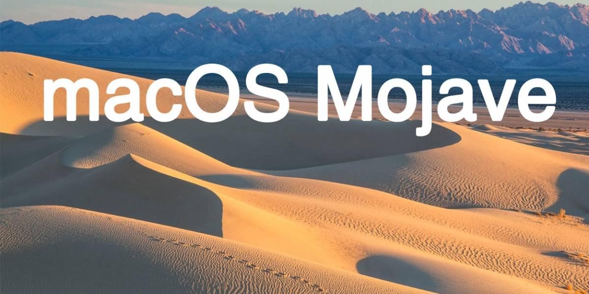 Apple presenta macOS Mojave con Dark Mode #WWDC18
