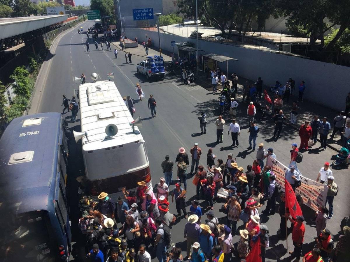 Marcha de maestros en la CDMX