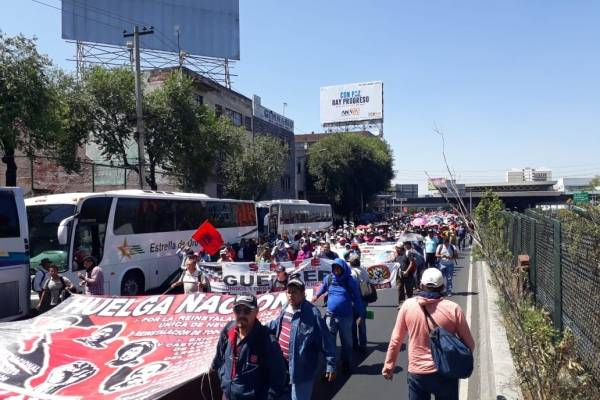 CNTE ahorca y paraliza la CDMX con marchas y bloqueos