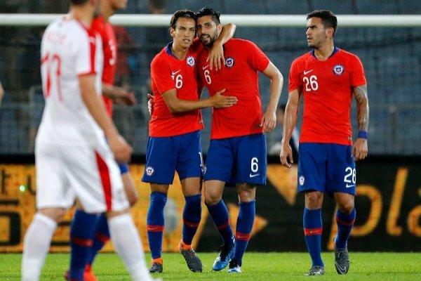 Chile celebró en su segundo amistoso mundialista / imagen: Photosport