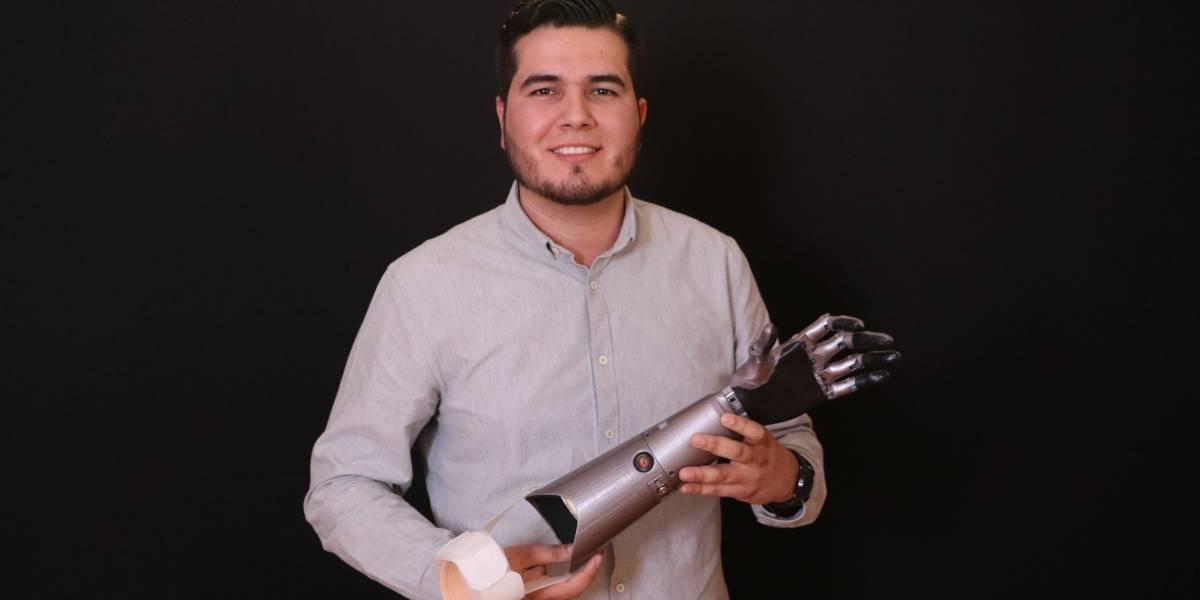 Estudiante de Unitec diseña prótesis para quienes más la necesiten