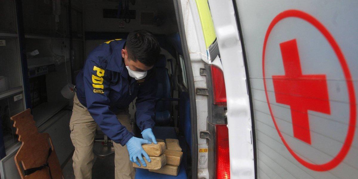 """Llamado de emergencia"": PDI desbarata banda que transportaba cocaína en ambulancia"