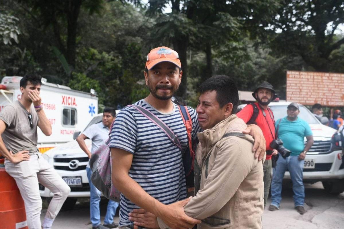 Boris Rodríguez busca a familiares tras la erupción