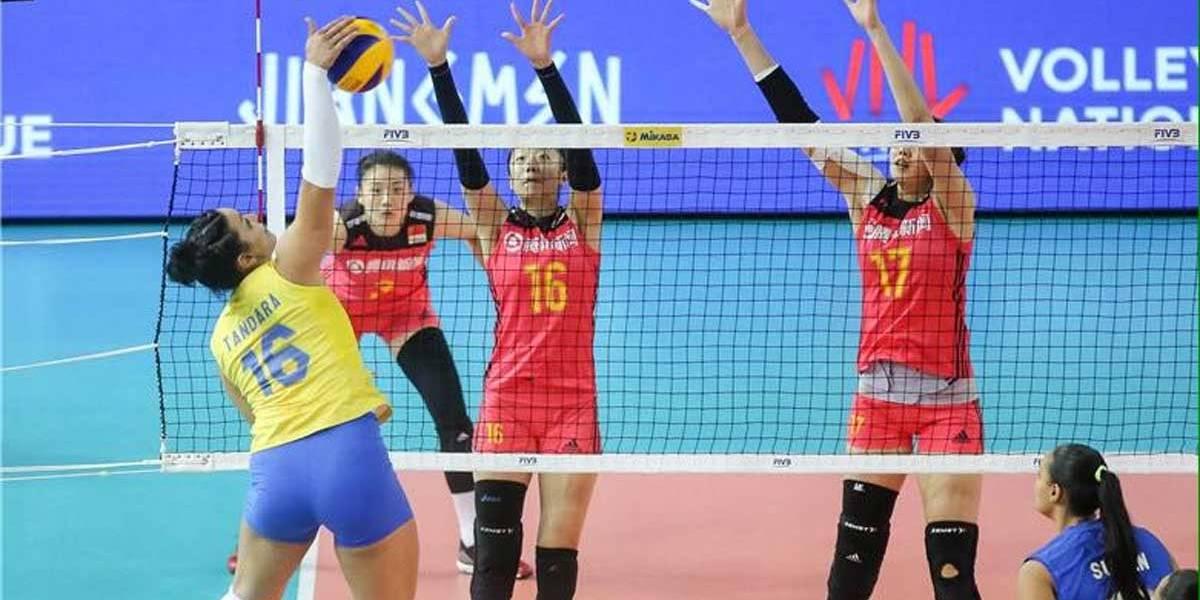 Vôlei: Brasil derruba China, atual campeã olímpica, na Liga das Nações