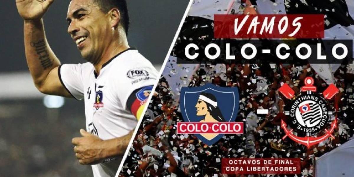 """""""Pifia increíble"""": Colo Colo confundió el escudo de Corinthians en Twitter y en Brasil no perdonaron"""