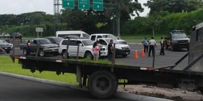 Comunidades evacuadas a autopista Palín-Escuintla
