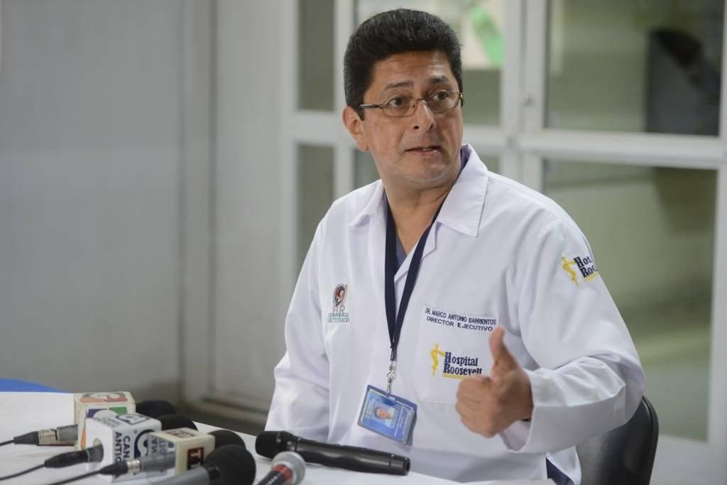 director del hospital Roosevelt, Marco Antonio Barrientos
