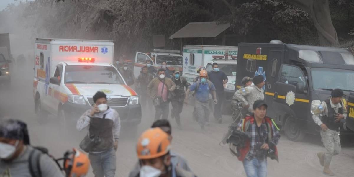 Rescatista narra cómo se vivió la evacuación por nuevo flujo piroclástico del volcán de Fuego