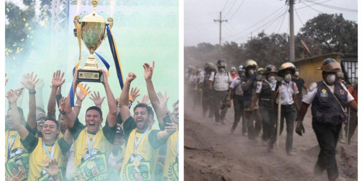 Guastatoya y un combinado nacional jugarán por las víctimas del volcán de Fuego