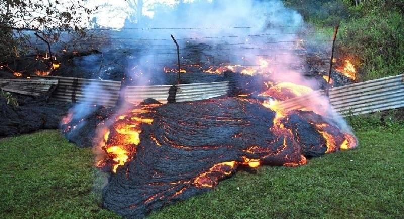 Supuesta volcán de fuego