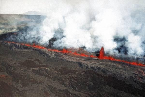 Lava del volcán Kialuea