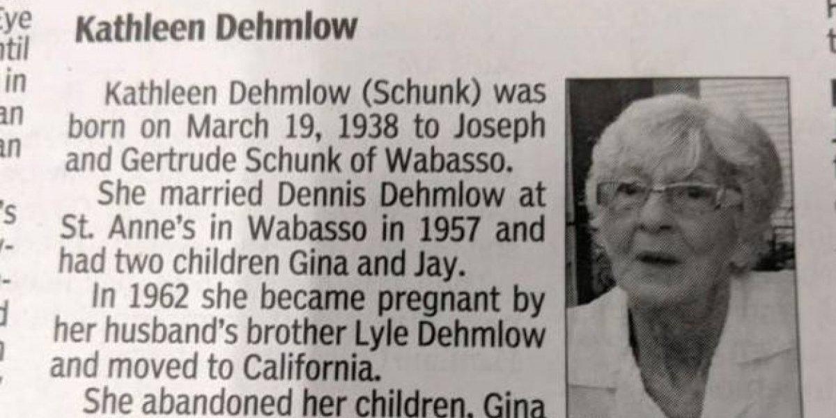 """No la extrañarán ni un poquito: murió a los 80 años y en su obituario escribieron la desoladora frase """"el mundo es un lugar mejor sin ella"""""""