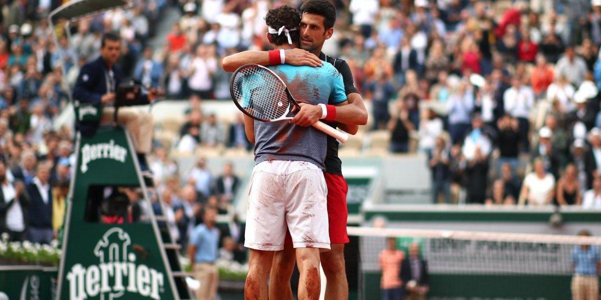 Cecchinato elimina a Djokovic del Roland Garros