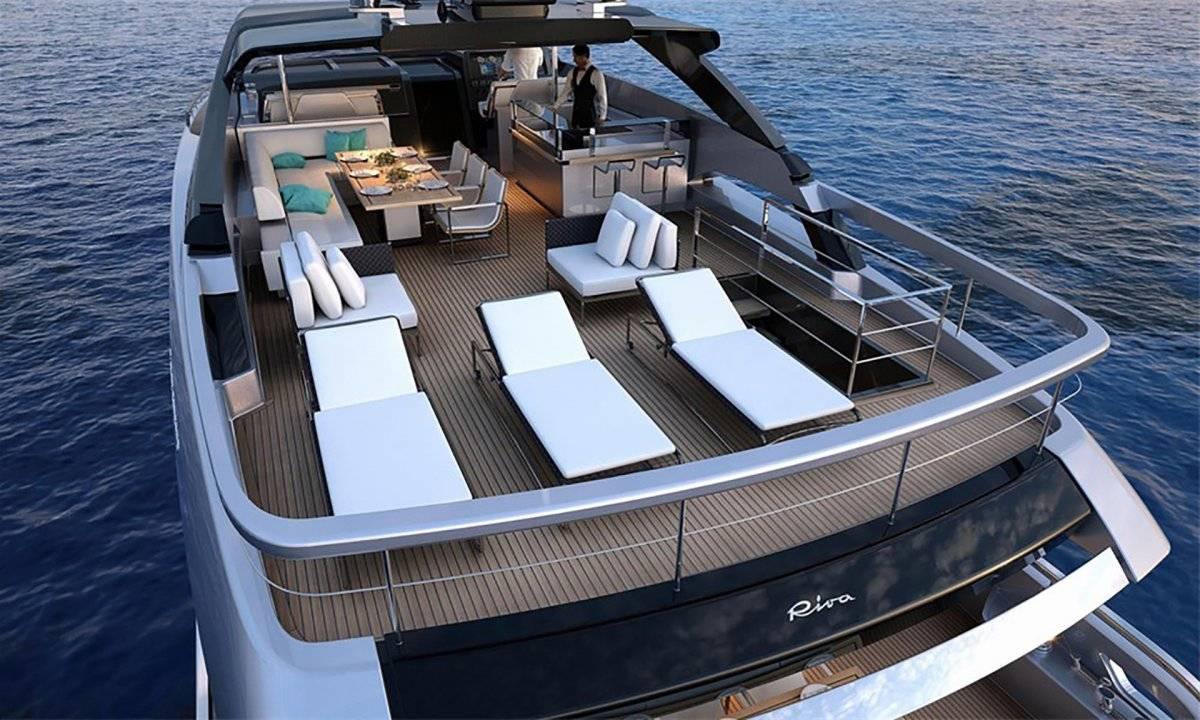 """La nave de la marca italiana """"Riva"""", cuyo modelo es el """"100 Corsaro"""" Instagram"""