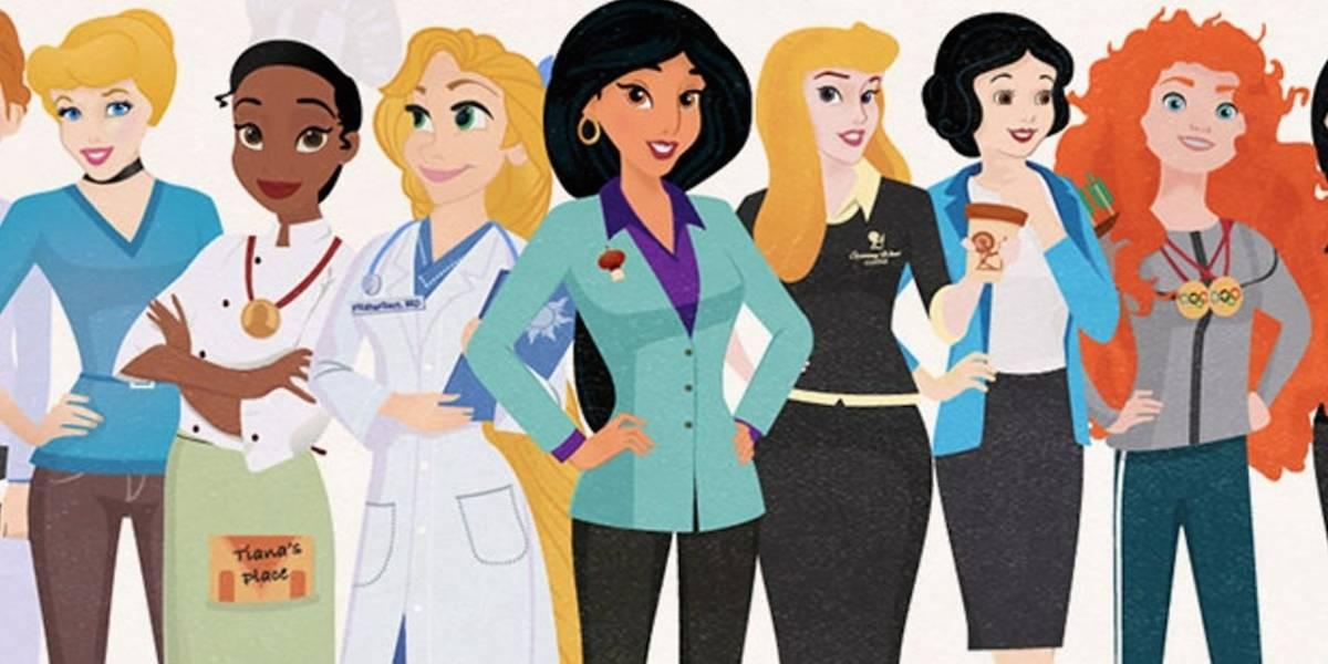 Princesas Disney se convierten en profesionistas