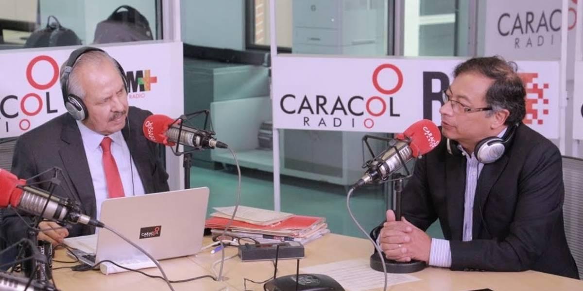 El 'agarrón' entre Darío Arizmendi y Gustavo Petro en plena entrevista