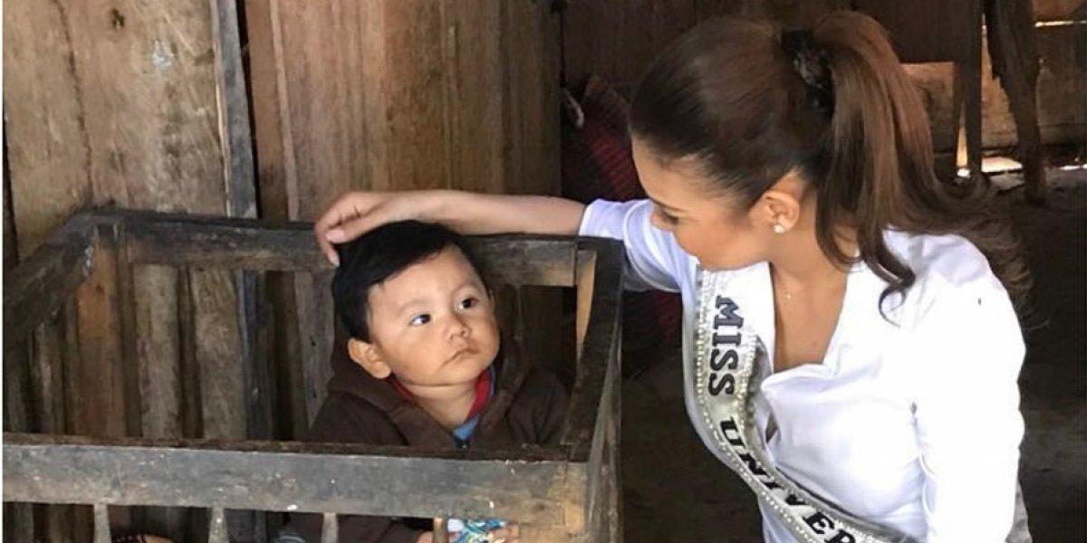 Miss Guatemala 2017 comparte con niños de albergues afectados por la erupción del volcán de Fuego