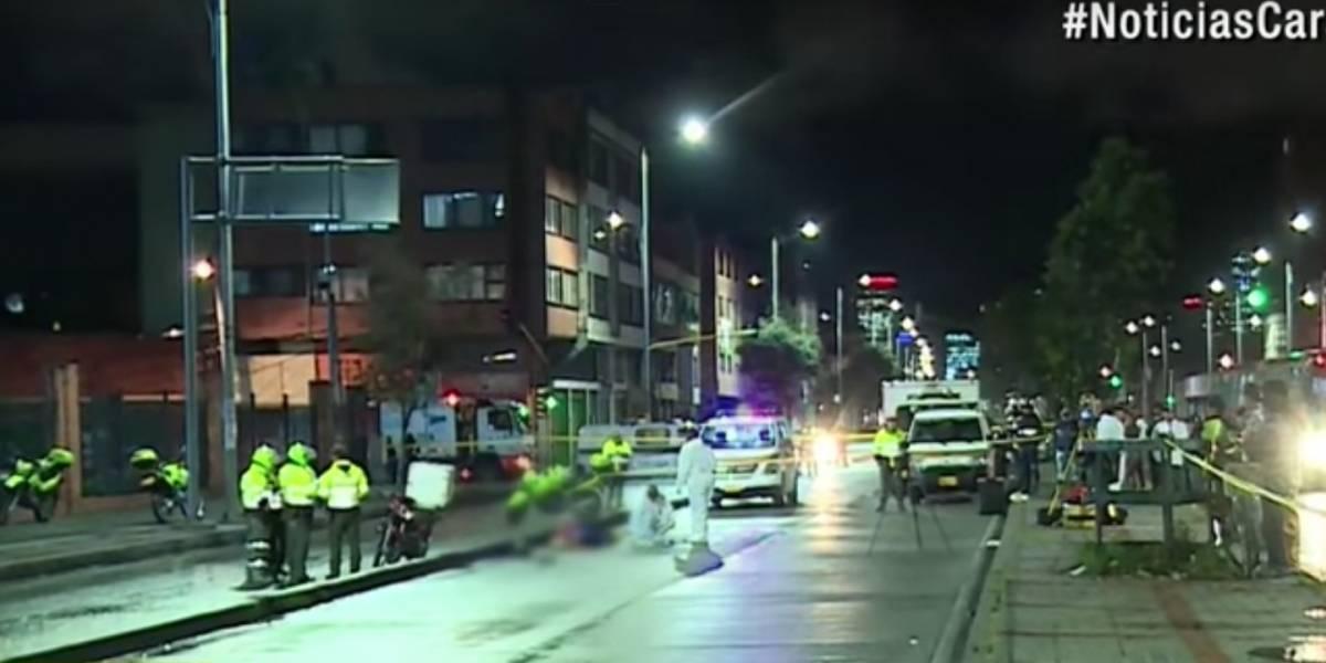 Por culpa de 'carro fantasma', motociclista muere arrollado por bus de TransMilenio
