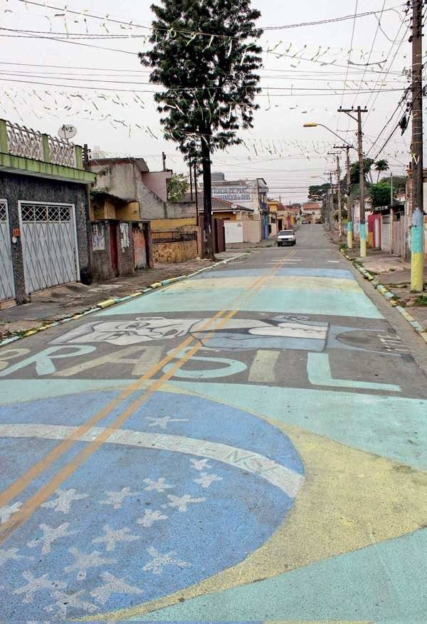 rua pintada para copa
