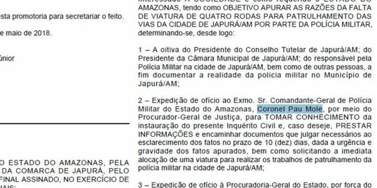 Comandante da PM é chamado de 'coronel pau mole' no Diário Oficial