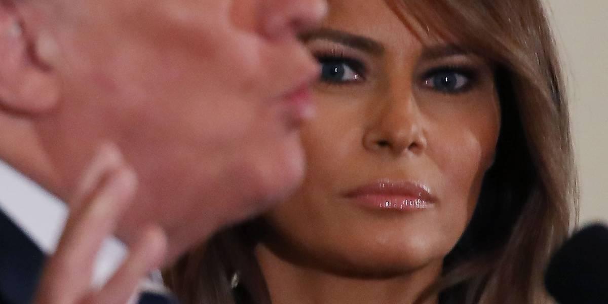 Trump: Los medios reportan que Melania me dejó y es falso