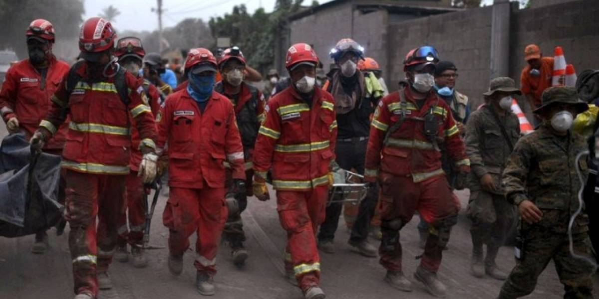 Área afectada por la erupción en constante evaluación para continuar búsqueda de desaparecidos