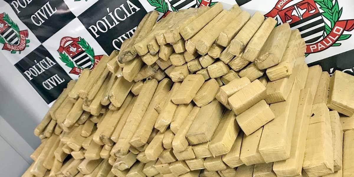 Força-tarefa da Polícia Civil apreende 410 kg de drogas