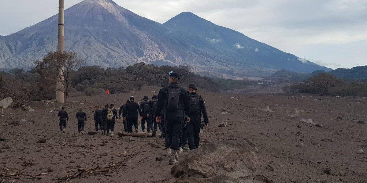 PNC ubica por medio de drones un área afectada por la erupción a la que no se había accedido