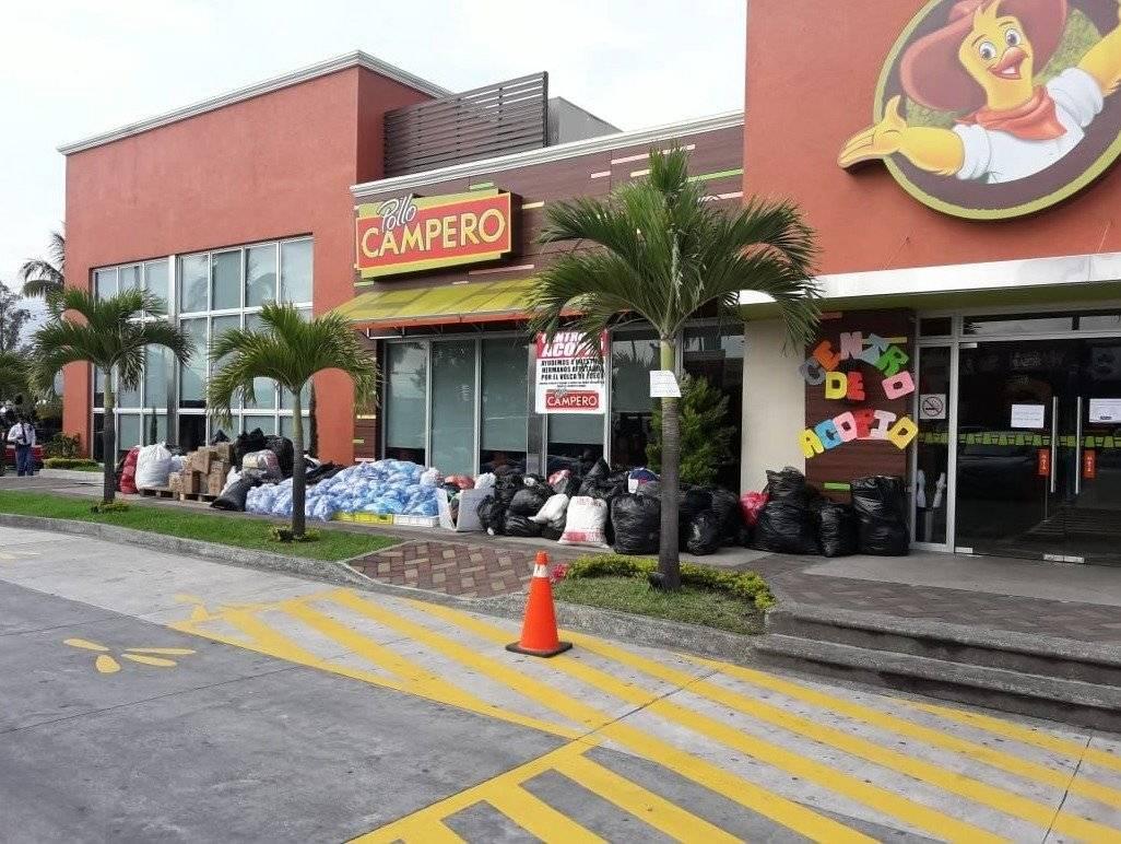 Pollo Campero activó 24 de restaurantes como Centros de Acopio a disposición de la población. Cortesía