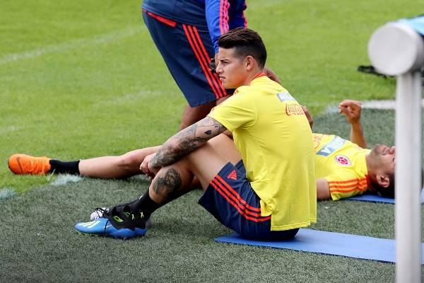 James Rodríguez regresó a entrenamientos con la Selección Colombia