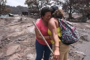 Tragedia po rel volcán de Fuego