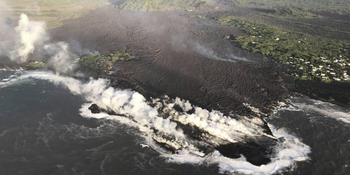 """Impactantes imágenes: el volcán Kilauea se traga un vecindario entero llamado """"Vacationland"""" en Hawai"""