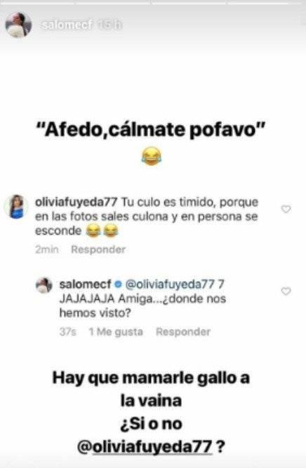 Captura de pantalla Instagram Salomé Camargo