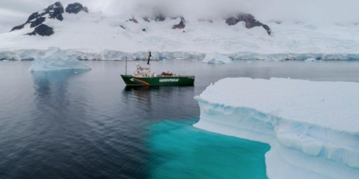 Tras estudio de tres meses: rompehielos de Greenpeace confirma presencia de microplásticos en la Antártica