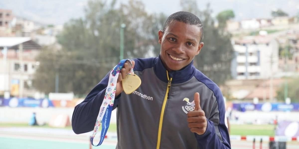 Ecuatoriano Álex Quiñónez es el atleta más veloz en la historia de los Juegos Suramericanos