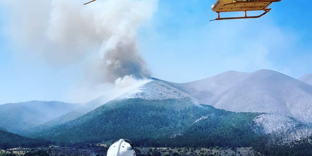 Incendio forestal de Coahuila mantiene en alerta a Nuevo León