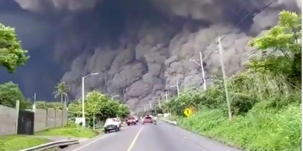 Estrella de la NBA comparte video del momento en que el volcán muestra su furia