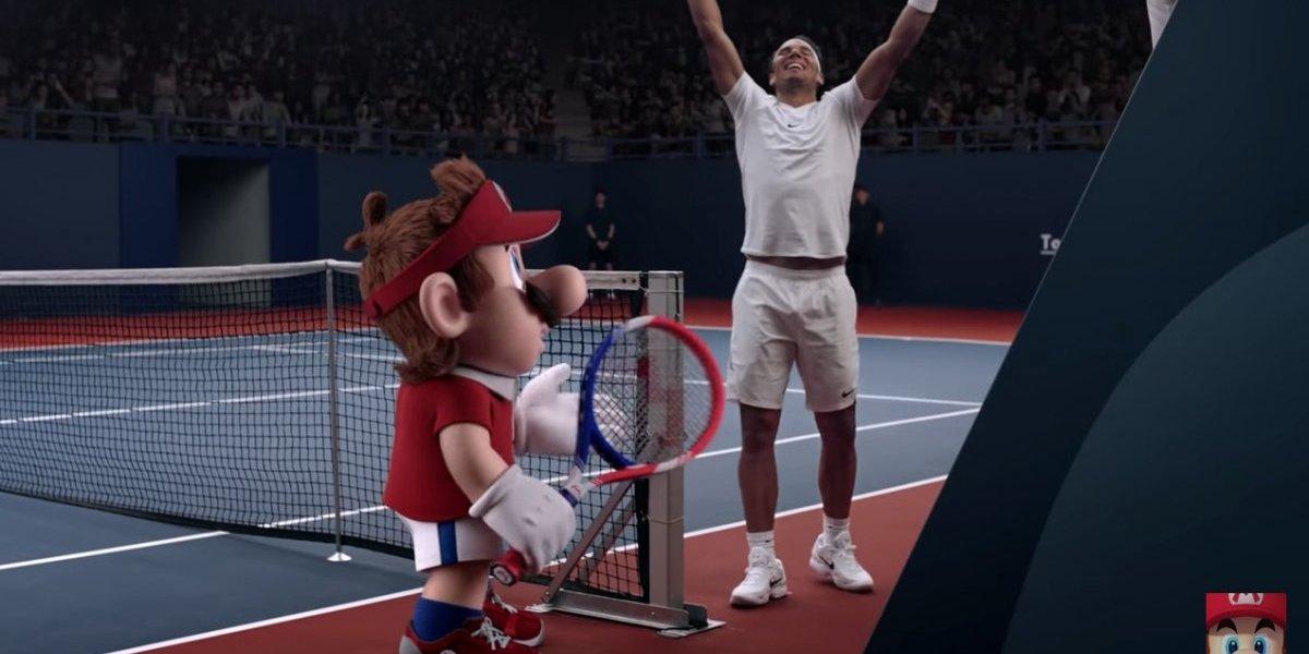 VIDEO: Rafael Nadal aparece en videojuego junto a Mario Bros