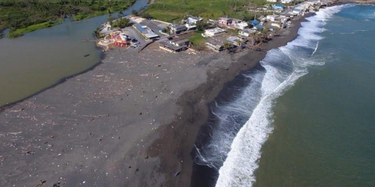 Huracán María aplanó gran parte de las playas