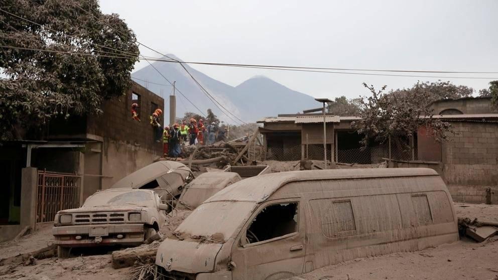 Desastre volcán de Fuego Foto: AP