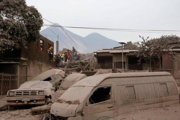 Desastre volcán de Fuego