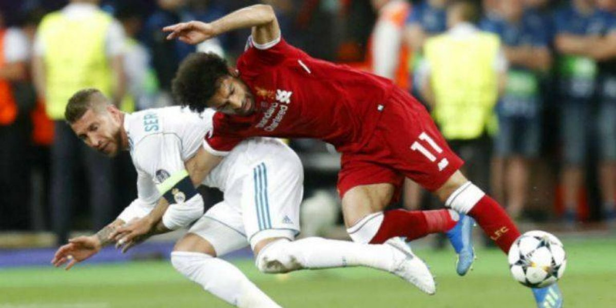VIDEO: Sergio Ramos recibe amenaza de futbolista por lesión de Salah
