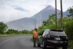 Volcán de Fuego en actividad